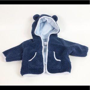 Baby Gap Boy Teddy Jacket Newborn Blue